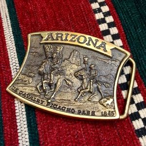 Other - VINTAGE ARIZONA US CALVARY COLLECTOR BRASS BUCKLE
